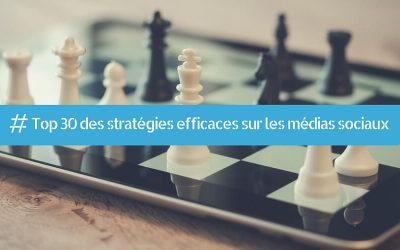 Top 30 des stratégies efficaces sur les médias sociaux