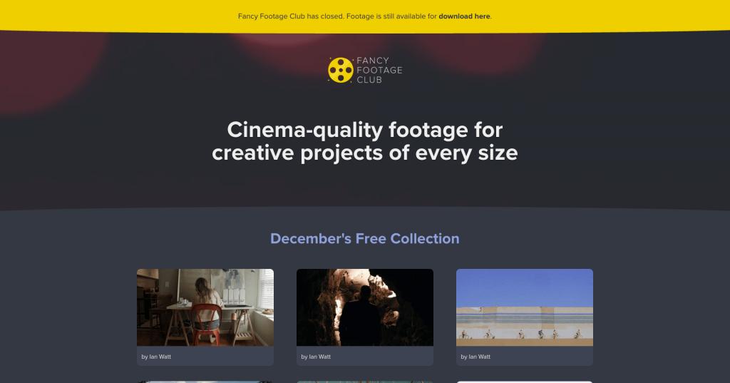 Banque de vidéos gratuites Fancy Footage Club