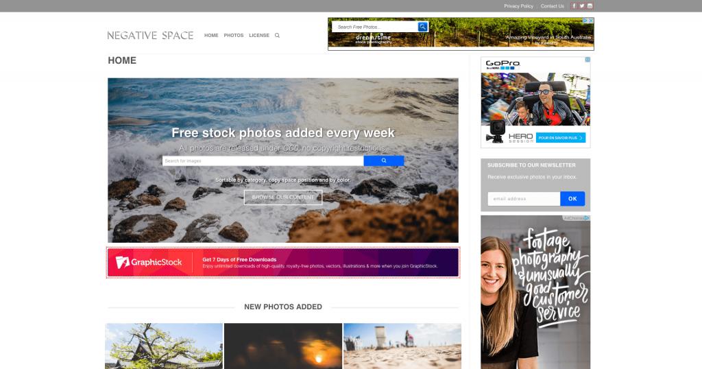 Banque d'images gratuites Negative Space