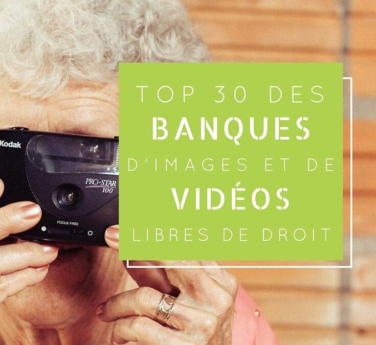 Top 30 des banques d'images et de vidéos libres de droits