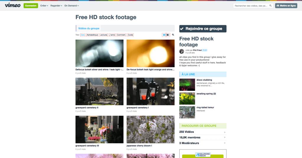 Banque de vidéos gratuites Vimeo