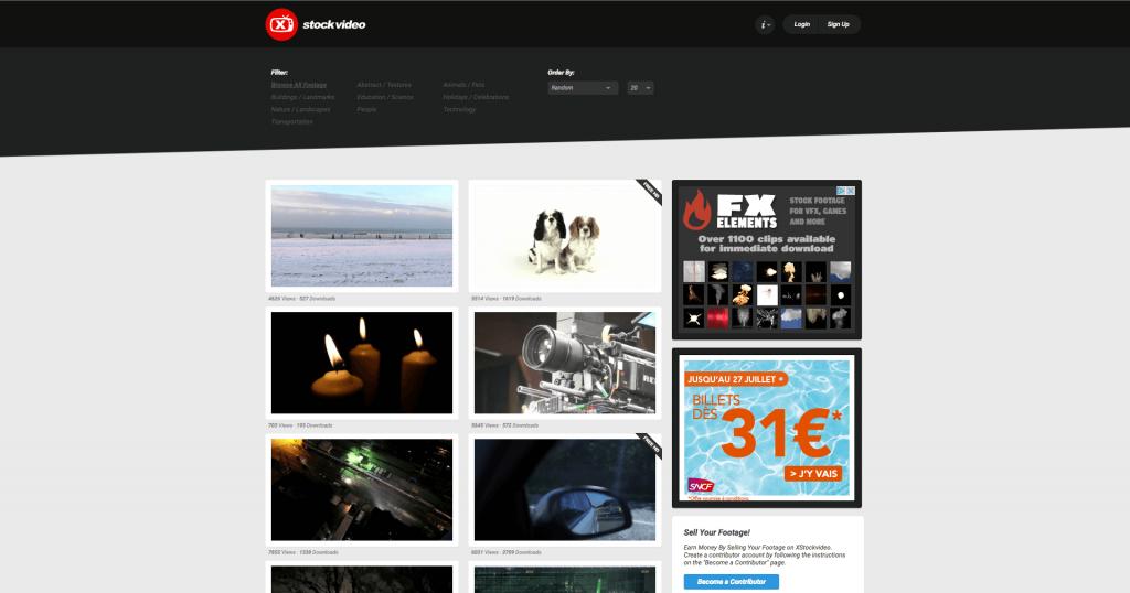 Banque de vidéos gratuites XStockvideo