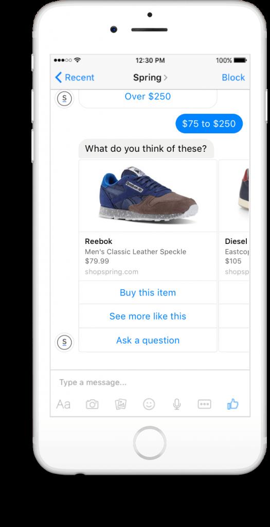 Facebook Messenger développe les bots ou chatbots conversationnels