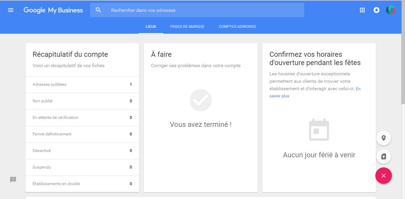 Référencement local - tutoriel Google My Business